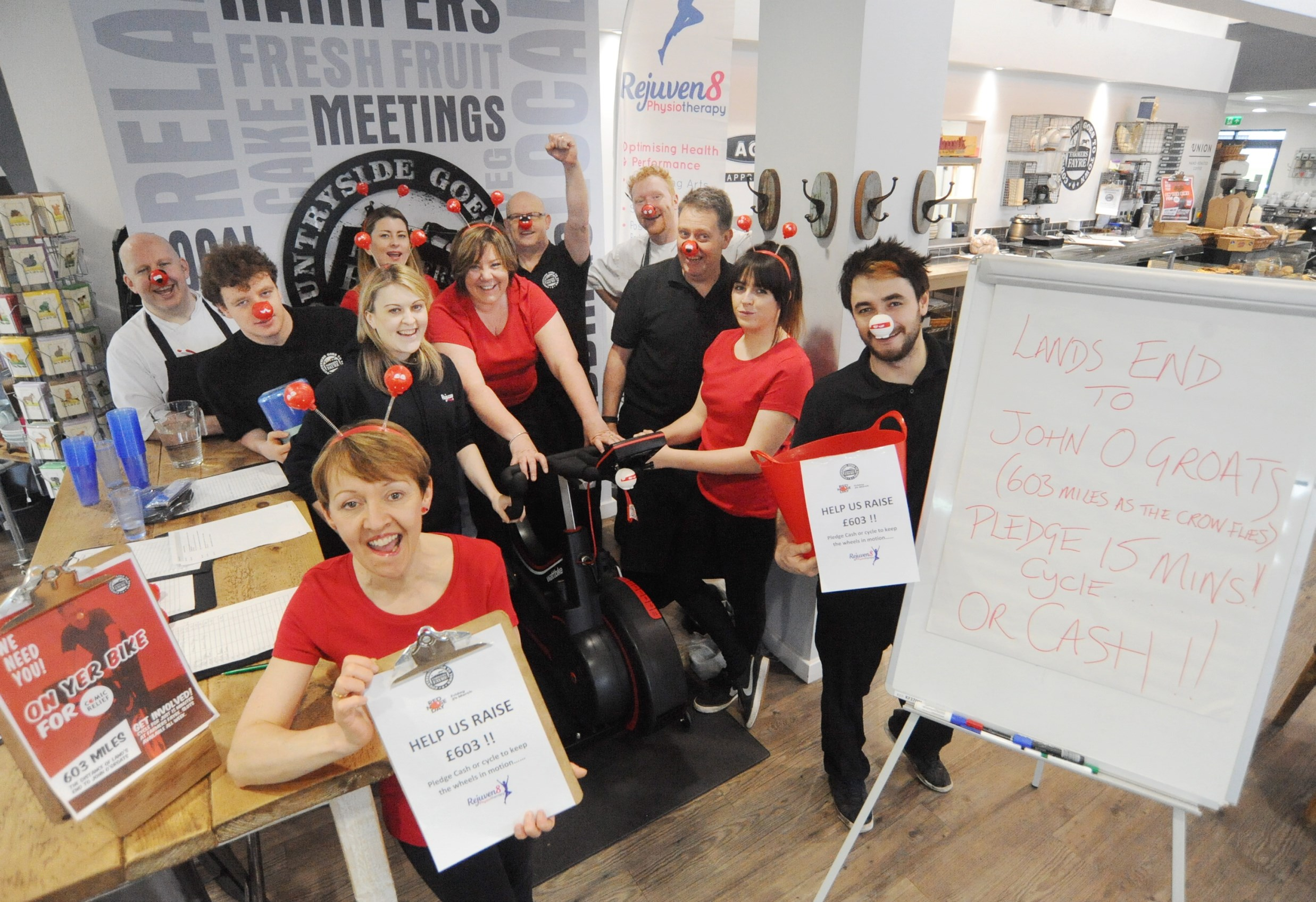Farmers Fayre sets Comic Relief cycling challenge at Stoneleigh Park