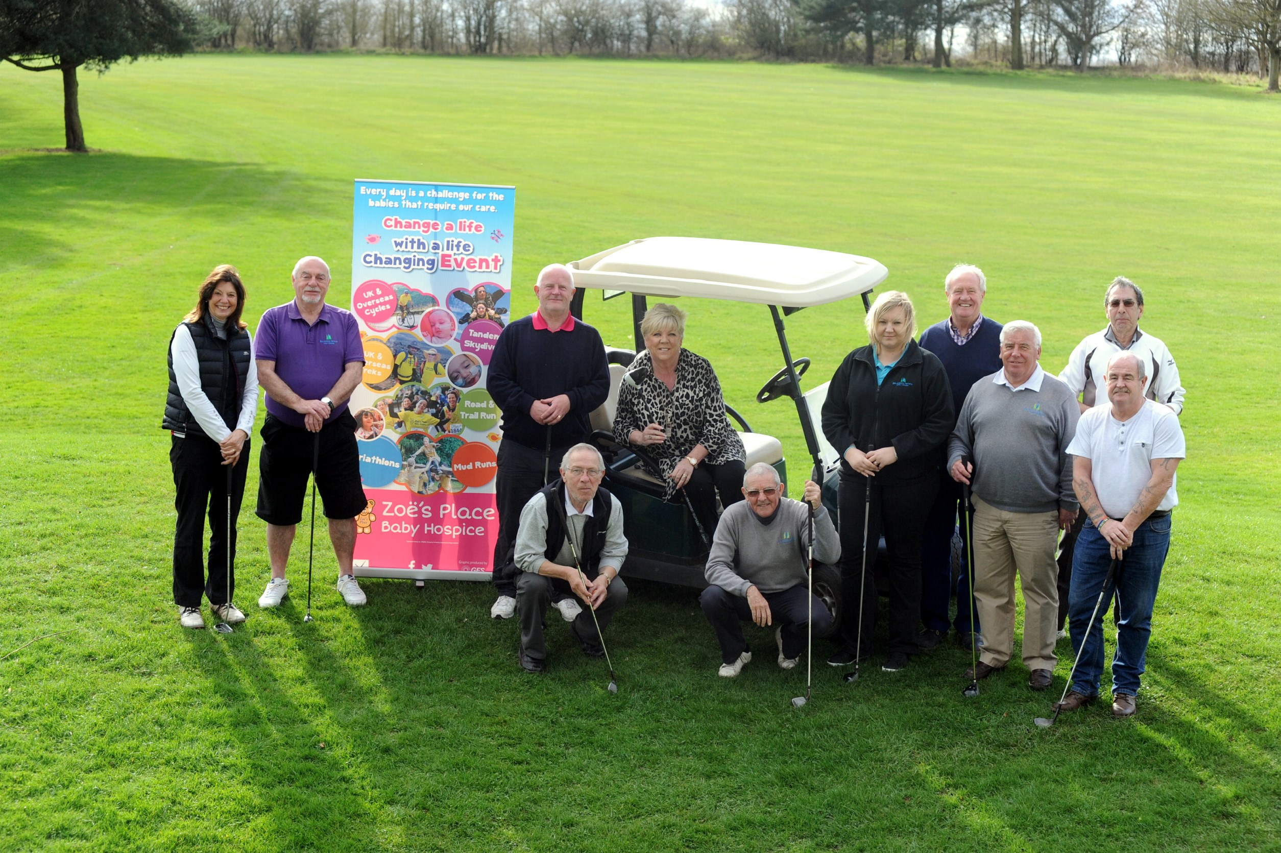 Coventry golfers raise funds for Zoe's Place Baby Hospice