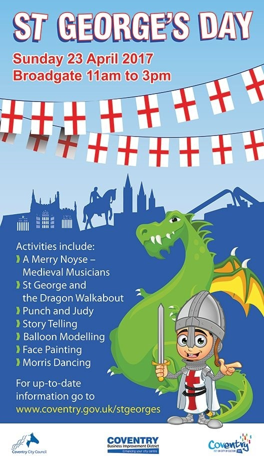 Coventry celebrates St George's Day with free family fun
