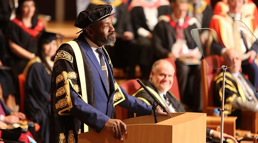 Lenny Henry has presided over first graduation ceremony